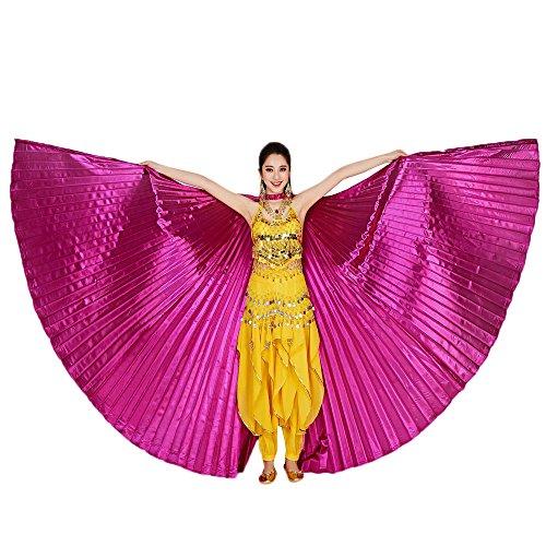 Tanz Schal,Tonsee Ägypten Bauch Flügel Tanzen Kostüm Polyester Bauchtanz Zubehör No Sticks (Hot (50's Cheerleader Kostüm)