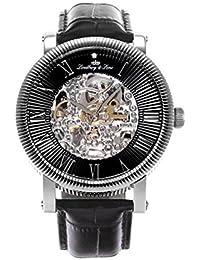Lindberg & Sons Herren-reloj analógico de pulsera automático de cuero SK14H018