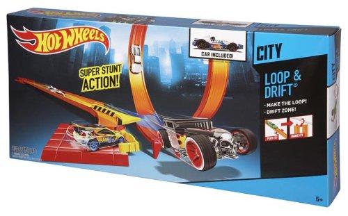 Preisvergleich Produktbild Hot Wheels Spielset Hot Wheels City Bahn Loop und Drift mit einem Fahrzeug