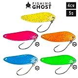 FISHINGGHOST Trout Spoon Set Casper, Gewicht: 5 Gramm, Länge: 4 cm, Forellenköder, Forellenspoons,...