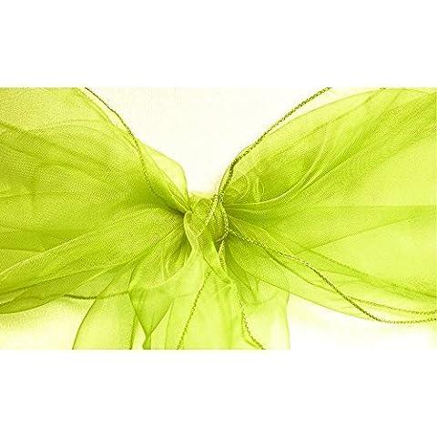 1, 50, 100, 120und 150x 17cm breit 280cm lang–Organza Schärpen Stuhlhusse Bögen Volleres für Hochzeit Geburtstag Party Events 34Farben von Hochzeit Decor, Textil, grün, (Clip Navy Tie Clip)