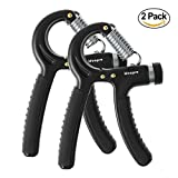 IDEAPRO Hand Grip Strengthener Set, 2 Pack Hand Strengthener, Adjustable Resistance Range 10-50 KG, Therapy Hand Gripper Set, Best Hand Exerciser Trainer for Athletes and Musicians
