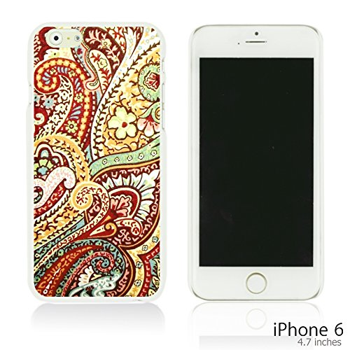OBiDi - Flower Paintings Hardback Case / Housse pour Apple iPhone 6 / 6S (4.7 inch)Smartphone - Colorful Flowers With Birds Pretty Paisley Pattern