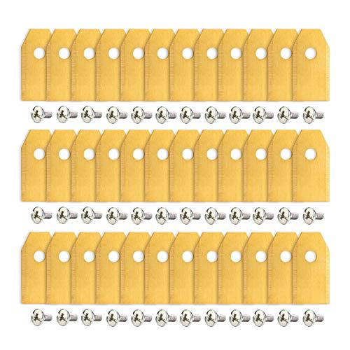 AGPTEK 36 x Titan Messer Klingen für alle Husqvarna Gardena Automower Mähroboter, 36er Pack 3g - 0,75mm Mähroboter Ersatzklingen + 36 Schrauben passen für 105, 310, 315, 320, 420, 430x, r40i UVM
