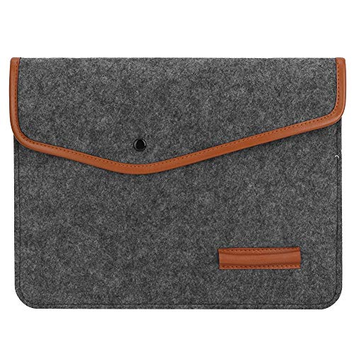 Laptop Filz & Leder Hülle Tasche Schutzhülle Umschlag Notebook Halter Dateiordner Datei Tasche Dokument Organizer(13
