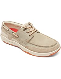Rockport Cshorebound 3-Eye Hombre US 9.5 Beis Grande Zapatos del Barco