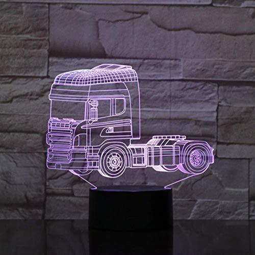 Super Heavy Truck Shapes 3D Nachtlicht 7 wechselnden Farben Illusion LED-Lampe Touch-Schalter USB-Kabel GX1840 Fast Drop Shipping.