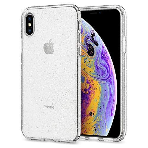 Spigen iPhone XS Hülle, iPhone X Hülle [Liquid Crystal Glitter] Glitzer Design TPU Silikon Handyhülle Passgenau Schutzhülle für iPhone X/XS Case Cover - Crystal Quartz Glitter-crystal Design