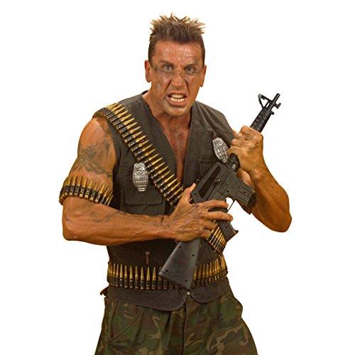 Zubehör Kostüm Militär - NET TOYS Patronengurt Patronen Gürtel für Schulter Gurt Patronengürtel Soldat Kostüm Zubehör Fasching Karneval