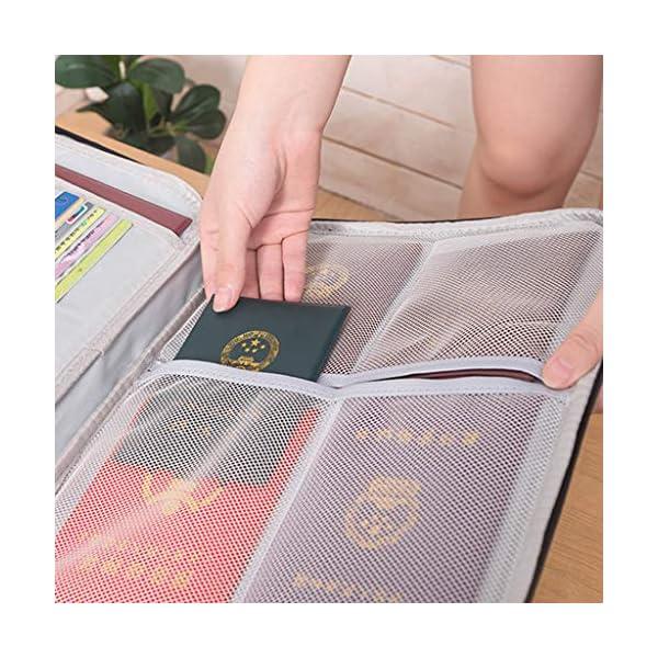 RROVE Bolsa de Almacenamiento de Documentos Bolsa de boletos con Cerradura de combinación Gran Capacidad Impermeable… 4