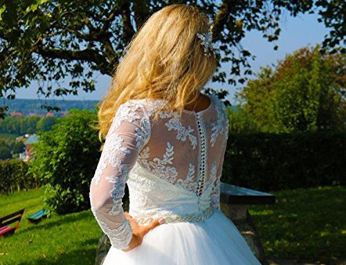 Luxus Brautkleid Hochzeitskleid // Spitze mit Ärmel Prinzessin Brautkleid - 4