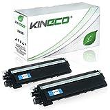 Kineco 2 Toner kompatibel zu Brother TN-230 TN230 für Brother HL-3040 CNG1, MFC9120CN, DCP-9010CN, HL-3070CN, MFC-9320CW, MFC-9325CW - Schwarz je 2.200 Seiten