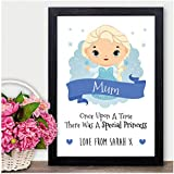 FROZEN ELSA PERSONALISED Disney Princess Christmas Gifts Mum Mummy Nanny Nanna - PERSONALISED with ANY NAME and ANY RECIPIENT - Black or White Framed A5, A4, A3 Prints or 18mm Wooden Blocks