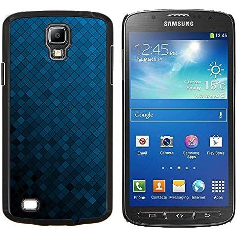 For Samsung Galaxy S4 Active i9295 Case , Struttura blu Cubi - Design Pattern Duro Staccabile Stile Telefono Cellulare Nuovo Caso Cover Guscio Duro
