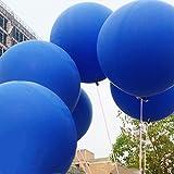 GuassLee 5 Giant Balloon Palloncino gigante in lattice tondo 36 pollici Palloncini grandi spessi Servizio fotografico / Compleanno / Festa di matrimonio / Festival / Evento / Decorazioni di Carnevale Blu