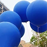 GuassLee 5 Giant Ballon 36 Zoll Runde Latex Big Ballon Große Dicke Ballons Foto Shooting / Geburtstag / Hochzeit / Festival / Event / Karneval Dekorationen Blau