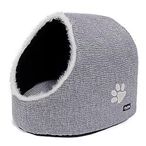 Katzenhöhle & Hundebett, Hundekörbchen von PetPäl | DIE Perfekte Kuschelhöhle für Hund & Katze | Ideale Korb Höhle für Drinnen | Bestens als Katzenkorb, Katzenbettchen zum Schlafen | Auch für Große Katzen