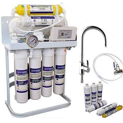 PUR Booster Quick - Impianto osmosi a 7 livelli 600 GPD + filtro di ricambio