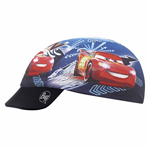 Buff Kinder Multifunktionstuch Cars Child Cap NEON Multi, Mehrfarbig-Blue/Red/White/Black/Yellow, One Size