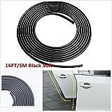 CICMOD 16ft / 5M Tür Edge Guards Schutz Trimmen Ideal für die meisten Limousine Hatchback Anti Kratzer mit Selbstklebendem Tape