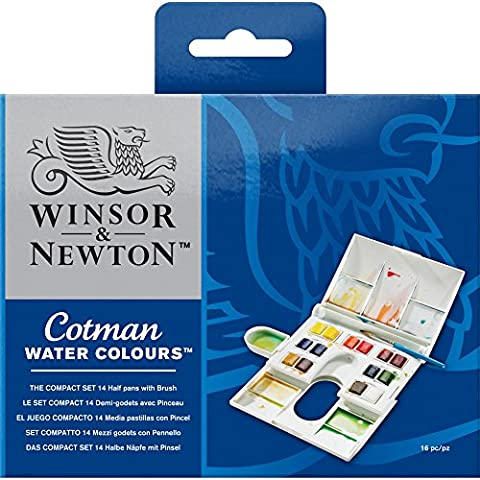 Winsor & Newton Cotman Aquarellfarbe Compact Set 14 halbe Näpfe