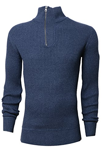 Crosshatch Herren Pullover grau grau Small Navy Blazer Marl - Blue