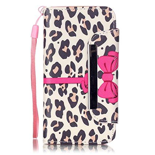 Voguecase® Pour Apple iPhone 5C Coque, Etui Housse Cuir Portefeuille Case Cover (Licorne 01)de Gratuit stylet l'écran aléatoire universelle Leopard arc