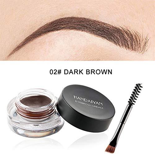 Yooshen Eye Augenbraue Gel Augenbrauengel Dye Wasserdicht Gel Make-Up Augenbrauen Pomade Brow Liner Brush Farbstoff Farbtönung mit Bürste für bilden (B) - Brow Liner Brush