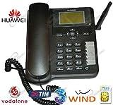 Huawei Telefono fisso con scheda Sim, compatibile Tim, Vodafone, Wind, H3G, per segnale GSM e 3G.