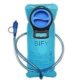 BIFY Wasserbeutel Trinkblase 2L Trinken Das Tragbare TPU Rucksack Hydration Camping Mund Trinken Wasserblasenbeutel Blau