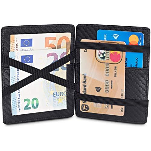 TRAVANDO ® Magic Wallet mit Münzfach Cancun Geldbörse Herren klein Slim Portemonnaie Mini Wallets for Men Geldbeutel Männer dünn Portmonee Brieftasche Geschenk Kreditkartenetui Portmonaise Portmonai -