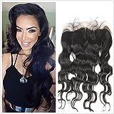 Full Shine 12 Zoll Body Wave Brasilianisches Haar Free Part Swiss Lace Frontal Closure (13 *4) Natürliches Schwarzes Color Hair