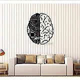 Autocollant mural Cerveau puce ingénieur vinyle sticker mural geek ordinateur intelligence artificielle décalque mural design créatif papier peint murale 72 * 86 cm