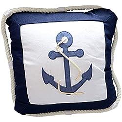 outflower almohada estilo mediterráneo personalidad ancla lienzo de lino cojín de sofá cojín (40cm * 40cm)