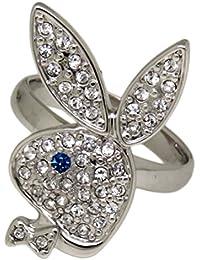 Playboy Anillo grössenverstellbar Bunny Azul purpurina de ojo