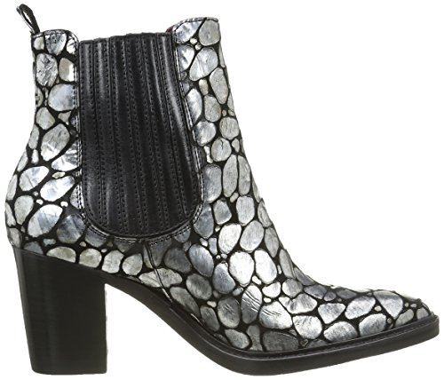 Donna Piu Damen 9644 Brigida Stiefel & Stiefeletten Silber - Argent (Sauron Antracite/Tequila Nero)