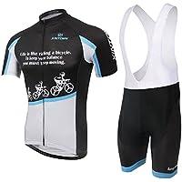 QlQ Ropa Ciclista para Hombres Trajes Transpirables y de Secado rápido, Que absorben la Humedad y se extienden