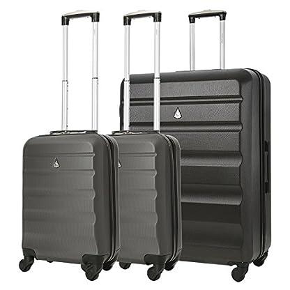 "Aerolite Concha dura maleta equipaje grupo viaje paquete – 2 x 21 ""equipaje de mano cabina + 1 x grande 29"" maleta de equipaje de sujeción (3 piezas equipaje conjunto)"
