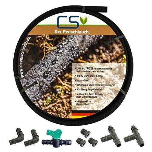 25 m CS Perlschlauch Drucklos mit Anschluss-Set - Hochbeet-anschlüsse