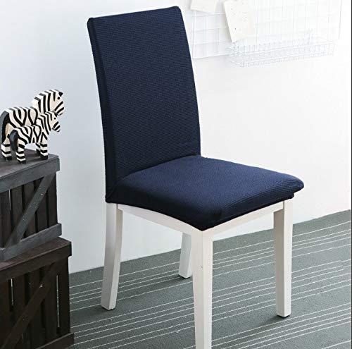 fenjinsheng Stuhlhussen Esszimmerstuhl Abdeckung Esstisch Stuhlabdeckung Stoff Sitzlehne Hocker Set Home Modern Solid Blau