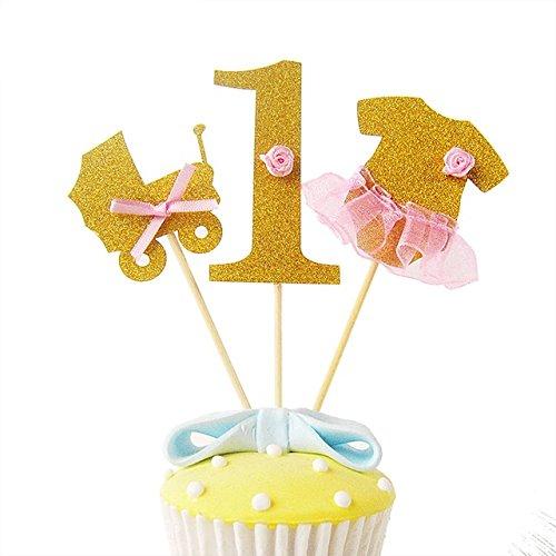 Decoracion gâteau Happy Birthday premier anniversaire 3 Decos Violet Doré et Liens fête les anniversaires, anniversaire, gâteau cupckes collège et Guarderia Décoration Cadeaux et scrapbooking, fotografias../mariage/, collage, de Open Buy