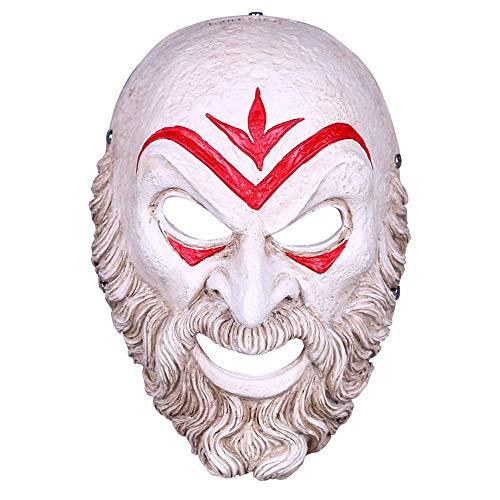 Maske YN Assassin Odyssey Bösewicht Creed Halloween Performance Dress Up Spiel Surrounding Harz