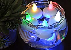 Lilone (Set of 12) Floating LED Candles with (Water Activated) Diwali Christmas Decoration