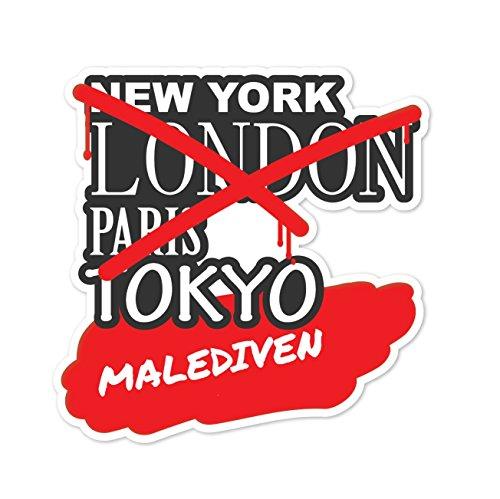 Preisvergleich Produktbild JOllify Aufkleber - MALEDIVEN – Farbe: Design: Graffiti Streetart New York