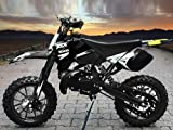 "Dirtbike Coyote 49cc 10"" Crossbike Pocket Minicross Motorcross Schwarz"
