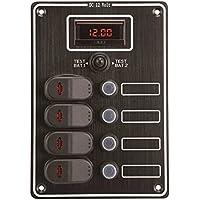 Panel con voltímetro 4Interr.