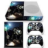 46 North Design Xbox One S Folie Skin Sticker Konsole Magic Skull aus Vinyl-Folie Aufkleber Und 2 x Controller folie & Kinect Skin