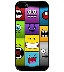 PrintDhaba Cartoon D-3413 Back Case Cover for APPLE IPHONE 5 (Multi-Coloured)
