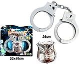 Polizei Set Handschellen + Marke Polizeikostüm Zubehör für Uniform Polizeimarke