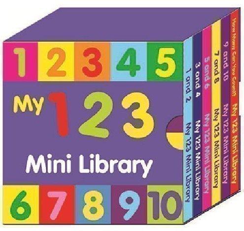 Preschool My 123 Mini Library - 6er Set Bücher Englischsprachig Zum Lernen Von Zahlen & Zählen